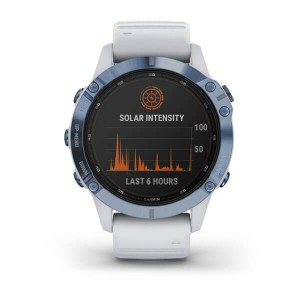 Garmin Fenix 6 PRO Solar Mineral Blue Titanium with Whitestone Band [010-02410-19]